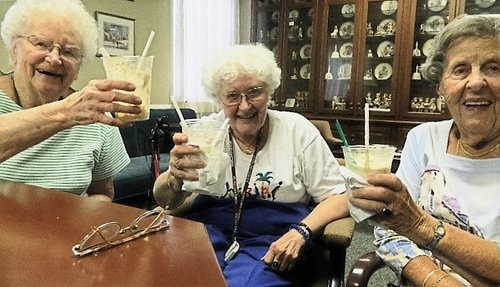 Betty Wise Mary Anna Borke and Doris Coyne Cheers to Root Beer Floats