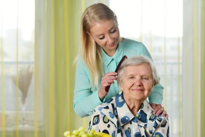 Brushing Elders Hair