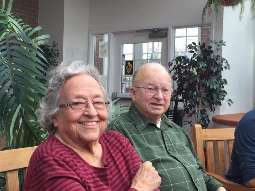 Shirley and Bob Fultz together at Homeland Center
