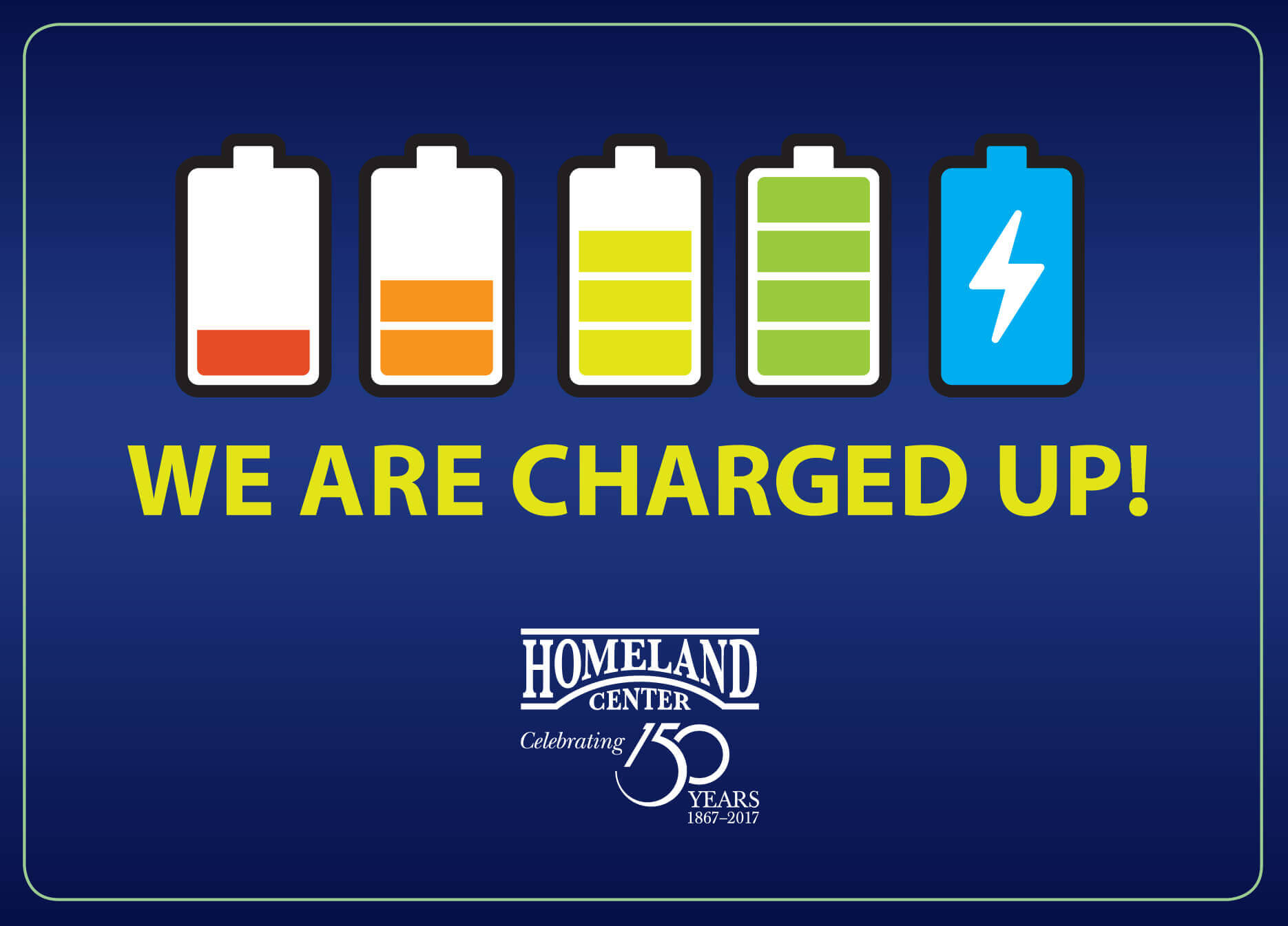 We are charged up!