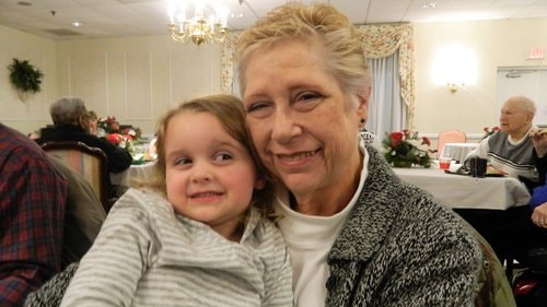 quinn bellows with her grandmother nancy snavely